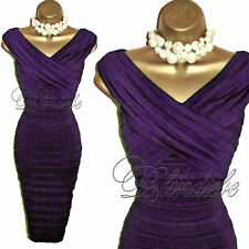 PHASE EIGHT Stunning PURPLE Bodycon Wiggle DRESS UK 10  Cocktails Races Cruise