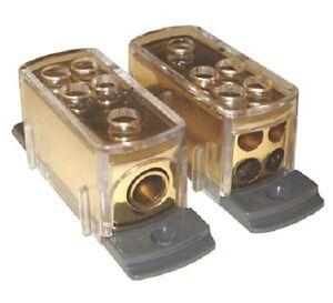 gold power ground distribution block 4 8 gauge wire car. Black Bedroom Furniture Sets. Home Design Ideas