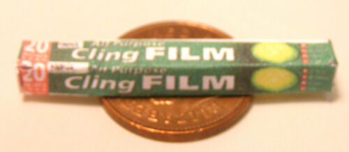 Échelle 1:12 vide Vert Film Alimentaire Paquet tumdee Maison de Poupées Miniature Cuisine