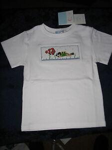 Boys-smocked-Tee-Shirt-4-NEMO-CLOWNFISH-Scuba-Diver-New-Vive-La-Fete-Disney