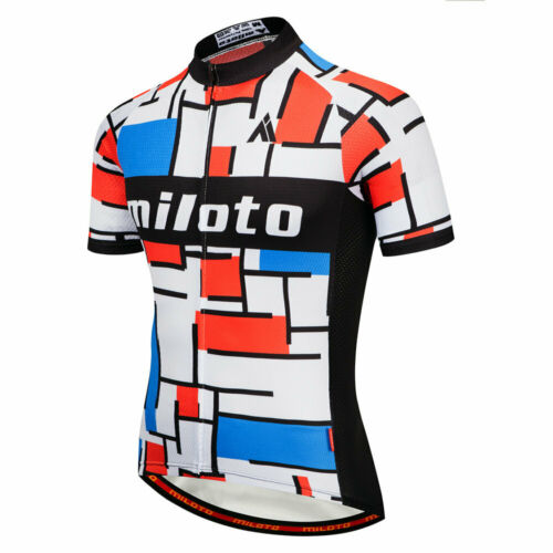 KJX5132 New Men mountain Racing MTB Cycling Kit Short Sleeve Jersey and bib