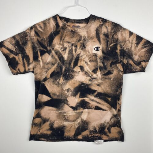 Led Zeppelin acid washed shirt cotton size 2XL one of a kind reverse tie dye on up-cycled tee