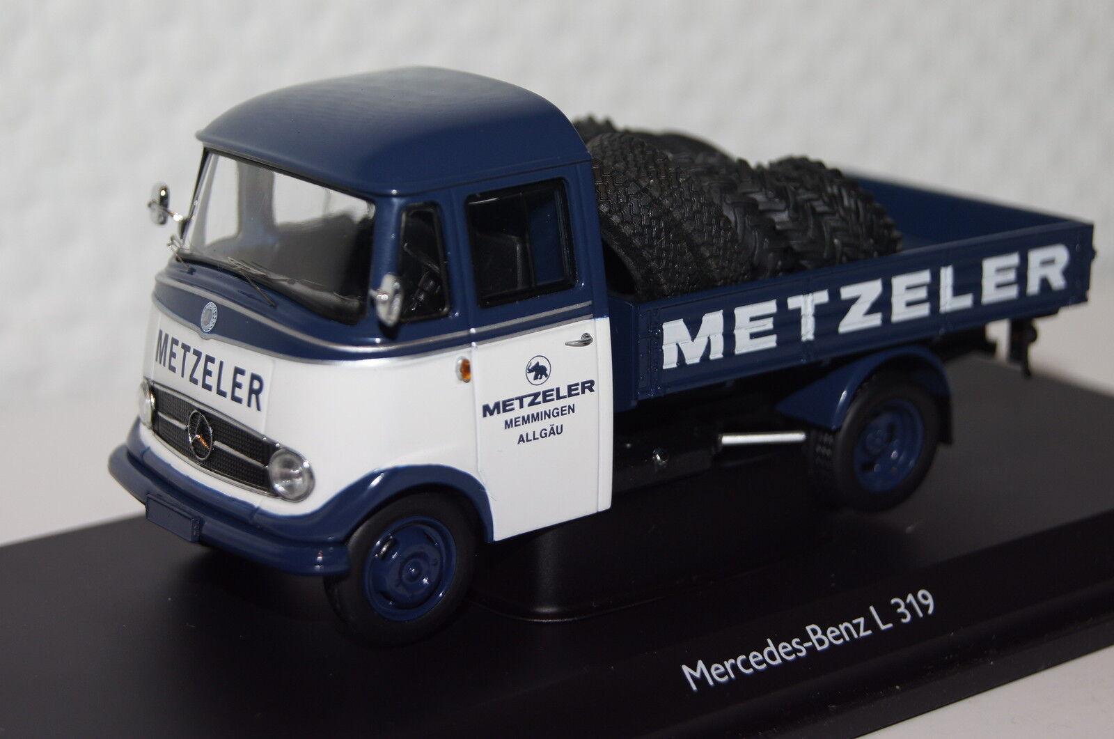El ultimo 2018 Mercedes l319  Metzeler Metzeler Metzeler  con neumáticos blancoo-azul 1 43 Schuco nuevo + embalaje orig. 2915  se descuenta
