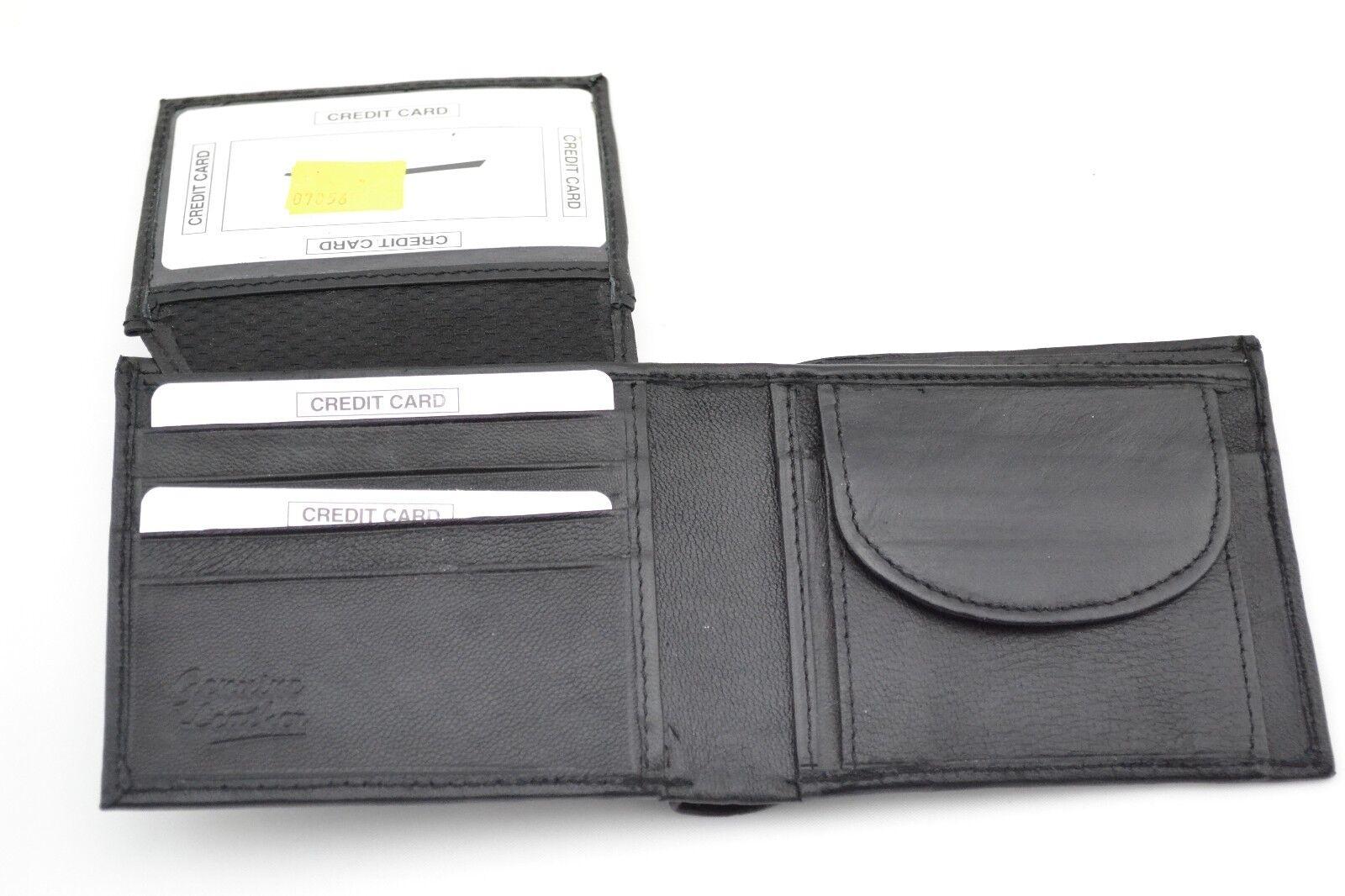 Men's Wallet Leather Slim Genuine Wallet Brand New Bifold Coin Card Wallet Purse