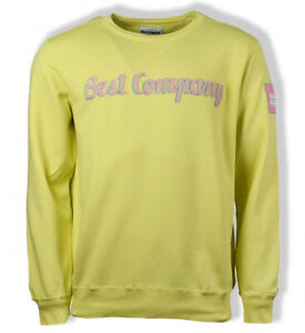 Best Company Crewneck Sweater Jumper 69 2056 in Amalfi Yellow Various Sizes