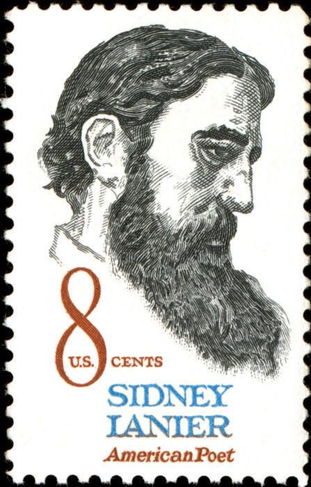 1972 8c Sidney Lanier, American Poet Scott 1446 Mint F/