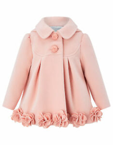 Monsoon-Princess-Pink-Roses-Floral-Baby-Girls-Warm-Coat-3-Months-to-2-3-Years