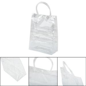 Women Portable Handbag Clear See Through Purse Tote Bag Travel Shoulder Bags New