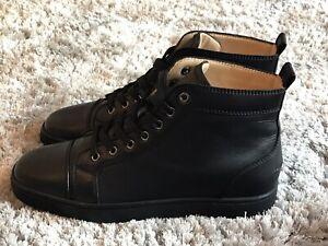 Louboutin Louis Sneaker - Black Leather