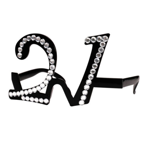 21//70//80th Birthday Party Clear View Eyeglasses Party Glitter Age Glasses
