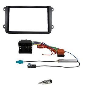 Radio Blende Set für VW POLO 6C ab 2014 Doppel DIN 2DIN Blende Adapter Antenne