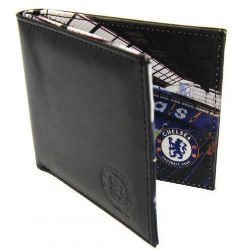 Chelsea F.C. Stadium Wallet ( Real Leather ) Embossed Crest