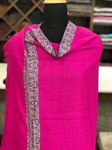 Pure-Pashmina-Shawl-Kashmir-Sozni-Hand-Embroidery-Women-Cashmere-Shawls-Wraps