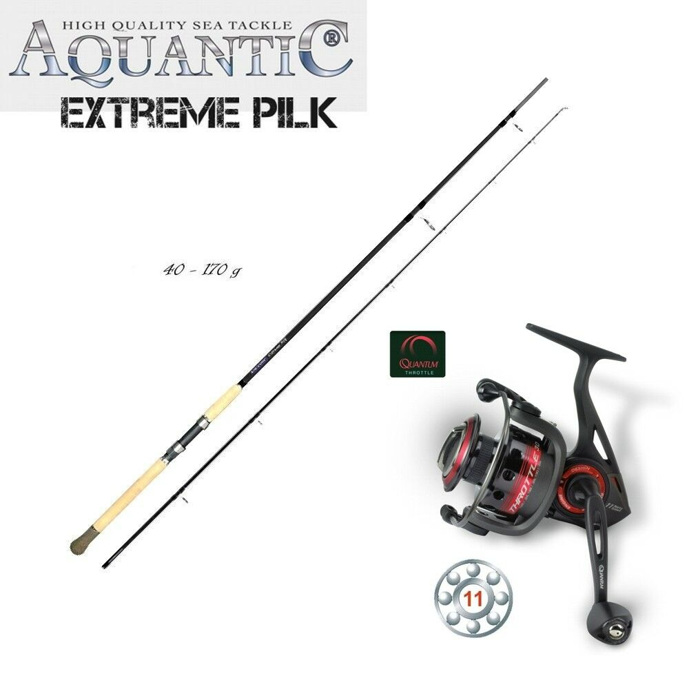 Carbon pilk set quantum Throjotle th50 + aquantic Extreme pilk 3,00m 40-170g