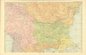 Details about 1920s MAP - THE BALKAN PENINSULA, 2 MAPS