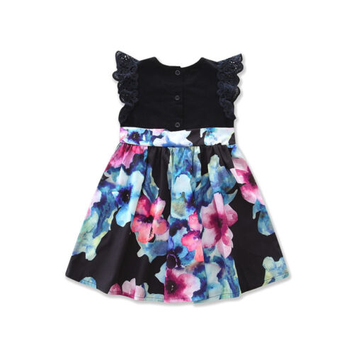New Family Clothes Lady/'s Mother Daughter Matching Summer Baby Girl Dress Outfit