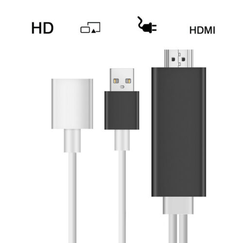 Lightning Apple AV HDMI Cable HDTV Digital TV Adapter for iPhone 6S 7 Plus//iPad