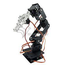 6Dof Arm Mechanical Robotic Arm Clamp Claw Mount Kit w/ 6pcs Servos for Arduino