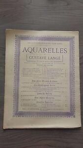 J. Ch. Hess Spartito Per Piano Acquerelli Di G. Lange Menestrello Parigi 2 Bd +