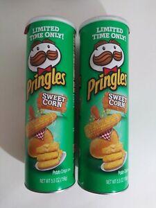 NEW-PRINGLES-Sweet-Corn-LIMITED-TIME-Flavored-Potatoe-Chips-5-5-OZ-Fresh-2pk