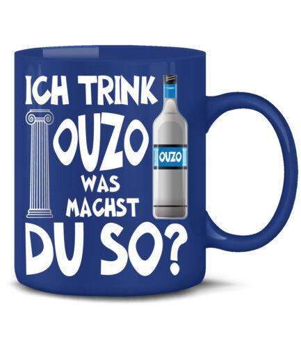 Je bois OUZO que fais-tu ainsi café dicton Marrant Drôle Tasse Gobelet