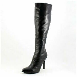 5th-Avenue-Stiefel-Gr-38-High-Heels-Lederstiefel-schwarz-Echtleder-3415