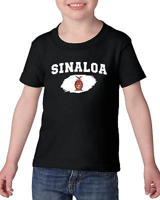 Mexico State of Sinaloa  Heavy Cotton Toddler Kids T-Shirt Tee