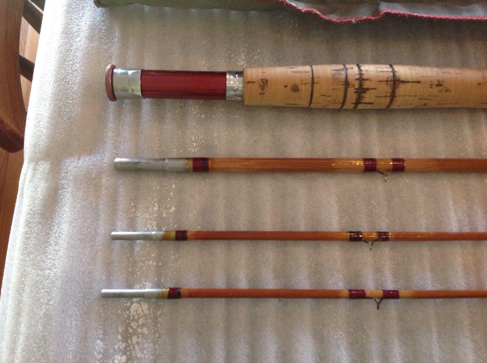 South Bend Bamboo Fliegen Rod, Model 53-9, 6 - 7 weight, 3 2, partial restoration