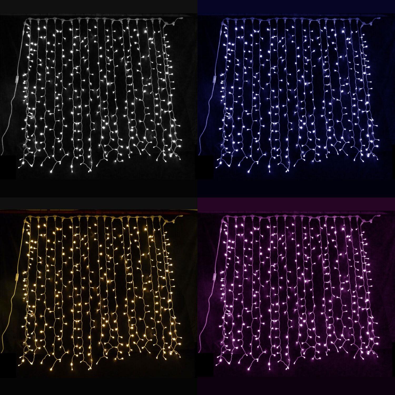 più ordine LUCI Led Tenda Tenda Tenda Natale Nozze Luci di Natale sfondo Bianco Blu rosa Giardino  tempo libero