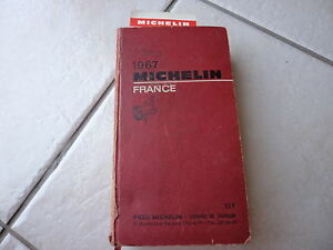 GUIDE-MICHELIN-FRANCE-1967-AVEC-SON-MARQUE-PAGE