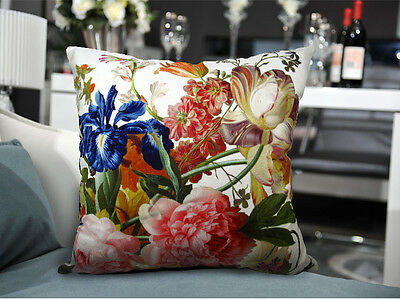 Soft Velvet Cover Classical Floral Pillow Cover double sides Flower printed