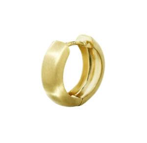 Single 8K 333 Yellow gold Hoop Earring 12.2 x 3.2mm Matt Round
