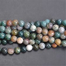 Wholesale India Agate Natural Gemstone Stone Round Loose Spacer Beads 6mm Hot