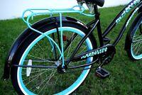 Greenline Universal 26 Steel Beach Cruiser Bicycle Rear Rack Carrier Baby Blue