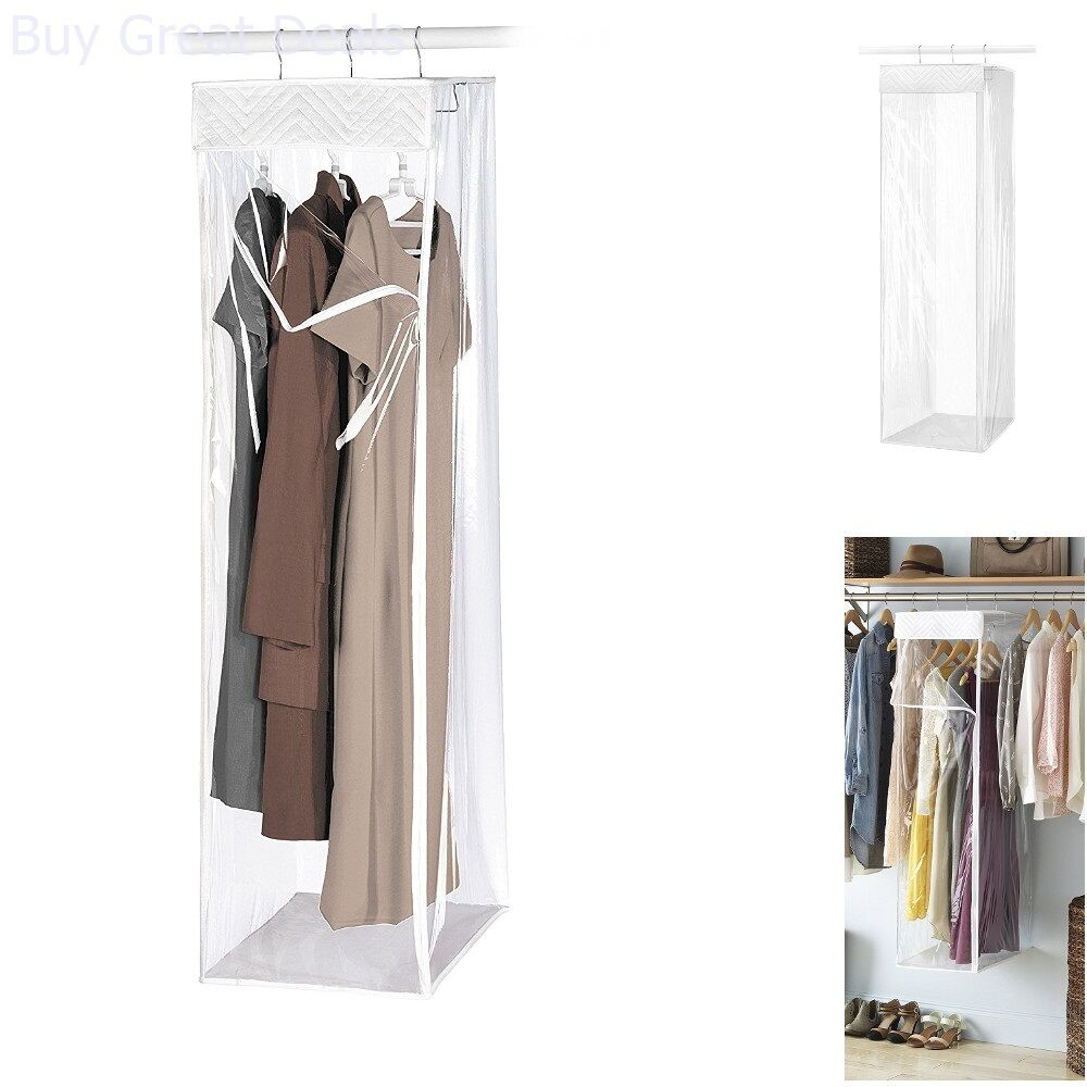 Closet Hanging Garment Whitmor Bag Clear Suit Dress Coat Storage Organizer Cover