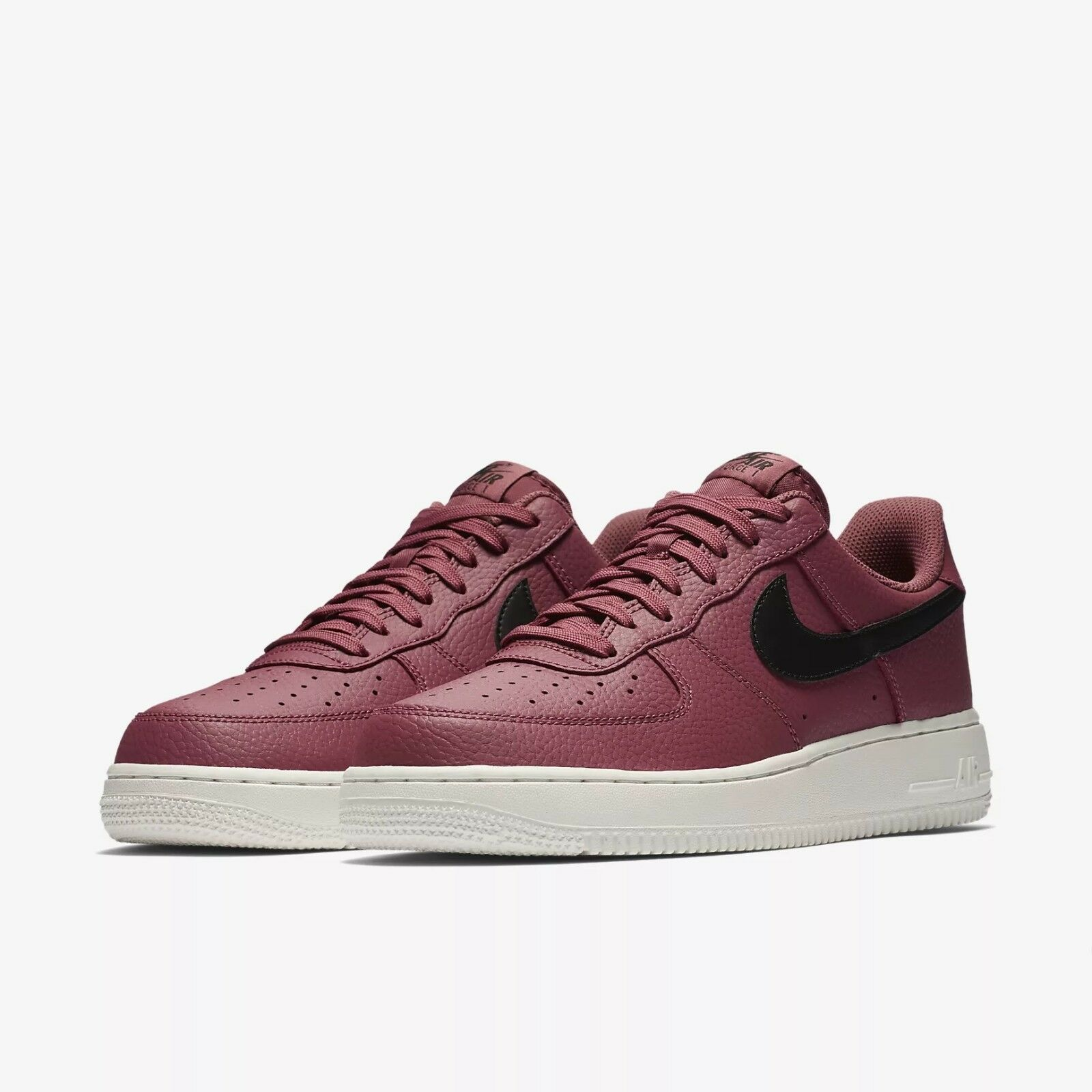 Hommes Nike Air Force 1 New '07 Low Vintage Wine/blanc New 1 In Box AA4083-601 7076c2