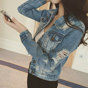 Women-Casual-Long-Sleeve-Ripped-Holes-Denim-Jacket-Slim-Cotton-Jeans-Jacket-Coat
