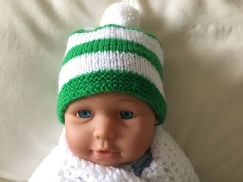 Glasgow Celtic colours new baby/'s First Team partisan chapeau s/'adapte 0-3 mois