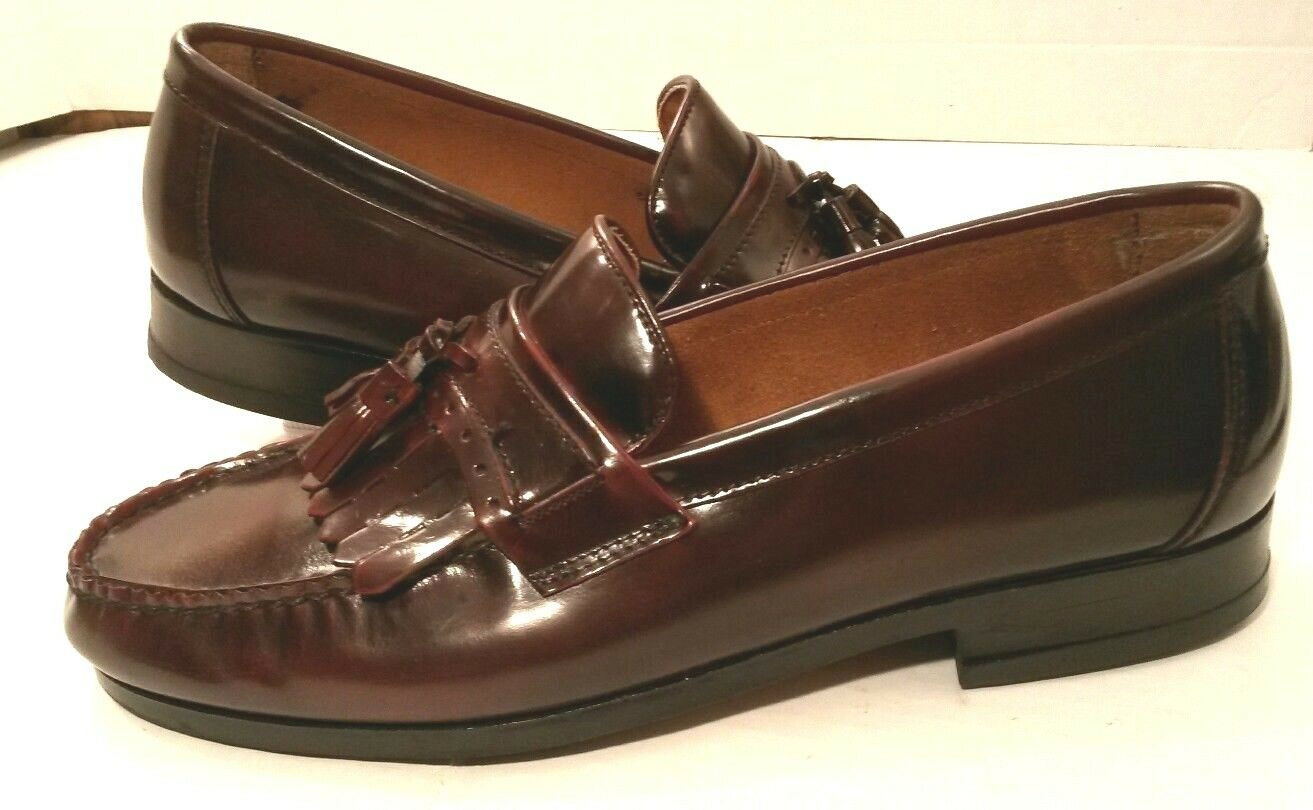 French Shriner Tassel Kilt Loafer Dress Schuhes Größe Wine Leder  Uomo Größe Schuhes 11.5M EUC 47f5b0