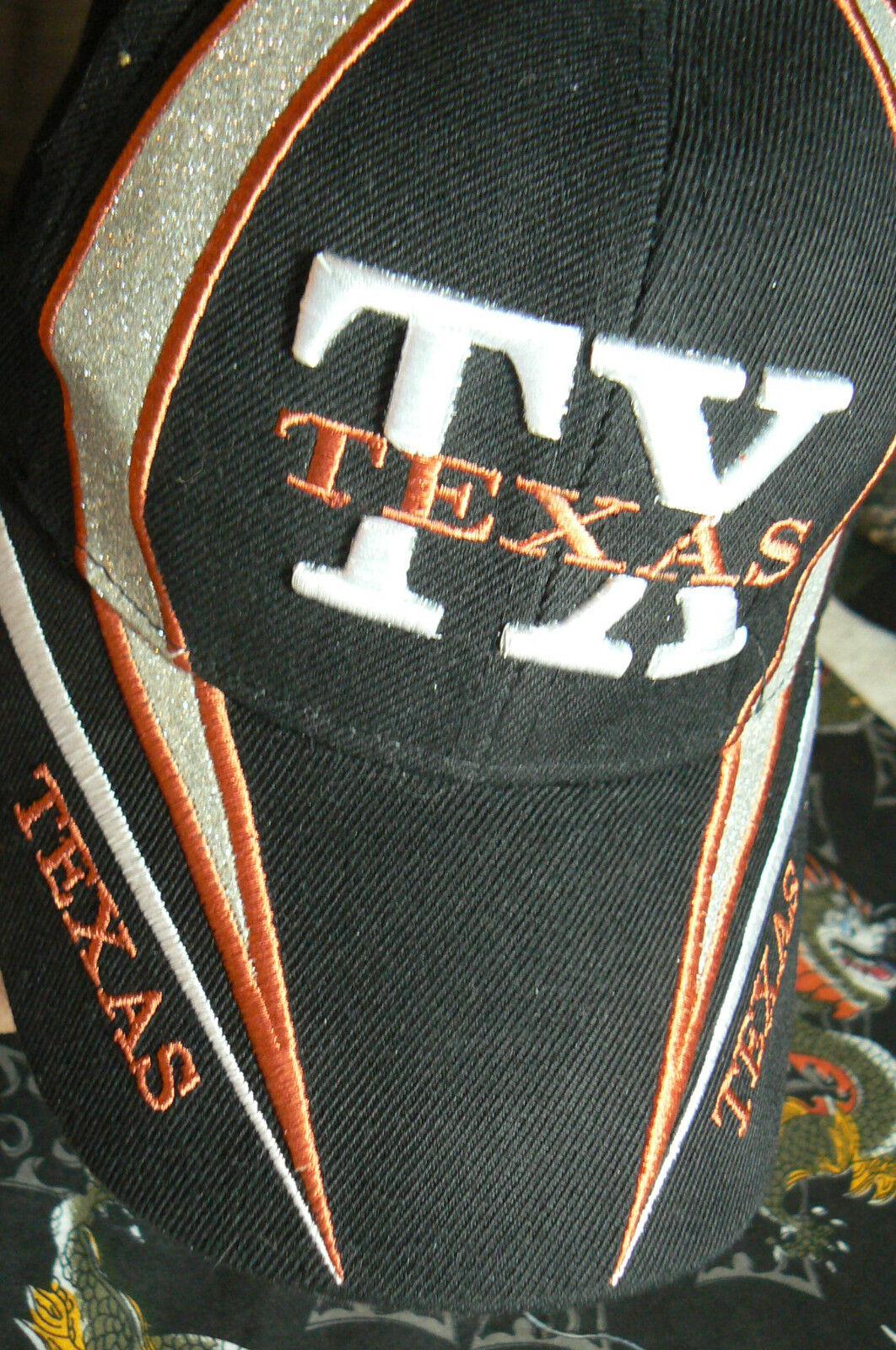 TEXAS 'TXBLACK ADJUSTABLE-ACRYLIC-SUPERB CAP WITH GLITTER by SUNSUN-VELCRO ADJUSTABLE-ACRYLIC-SUPERB 'TXBLACK CND cef569