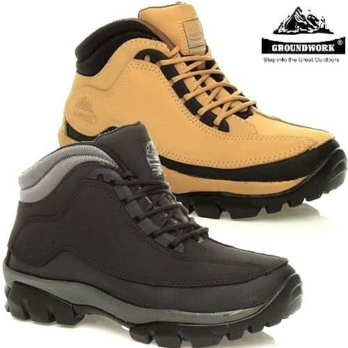 MENS GROUNDWORK WATERPROOF STEEL TOE CAP SAFETY SHOES WORK BOOTS TRAINERS SIZE