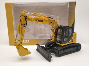 Ros-1-50-Kobelco-ed160br-5-ultra-small-round-Excavator-Yellow-DIECAST-Model-Toy