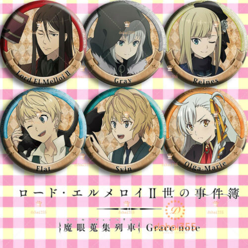 Anime Lord El-Melloi II Case Files Pendant Button Badge Pin Brooch Gift 6Pcs #T5