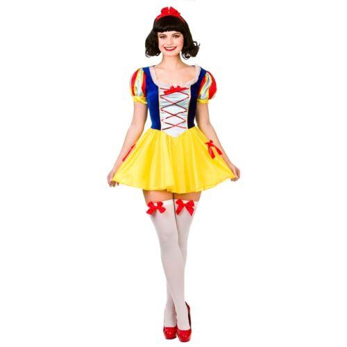 NEW Snow Princess Ladies Halloween Fairy Tale Fancy Dress Up Halloween Costume