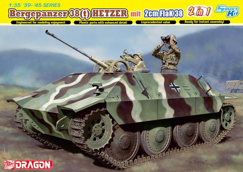 Dragon 1 35 Bergepanzer 38(t) HETZER mit 2cm FlaK 38 - Smart Kit (2 in 1)
