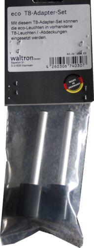 daytime eco Adapter Set T5 oder T8 Adapter Set für Röhren von Ø 16mm oder 26mm