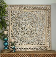 Item 4 Large Rustic Decorative Square Wood Carved Lacework Scroll Wall  Panel Home Decor  Large Rustic Decorative Square Wood Carved Lacework  Scroll Wall ...