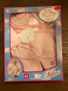 Zapf Creation Pink With Lamb Doll Outfit Baby Annabell 18