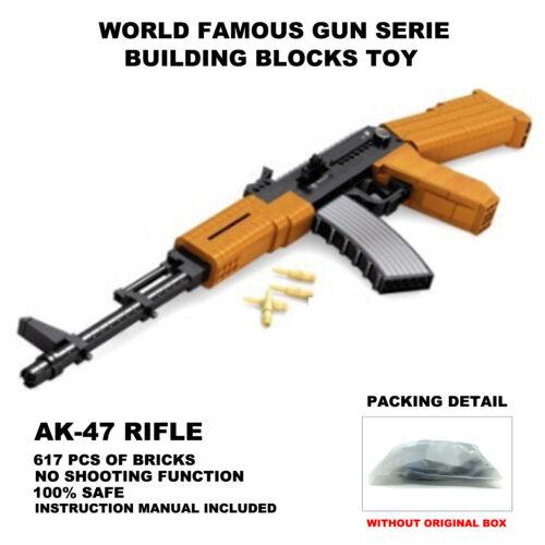 Ausini Gun Toys,Top Gun Series,AK-47 Rifle Gun Model,Static Building Blocks Toys