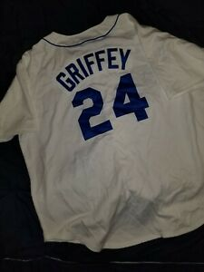 the best attitude 1c9c4 f9bd2 Details about 1989 Ken Griffey Jr Seattle Mariners Mitchell & Ness  Authentic Jersey - White